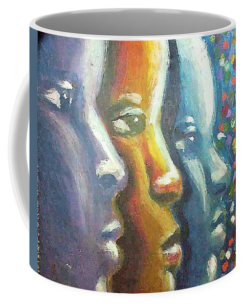 Color Coffee Mug featuring the painting Focus by Jan Gilmore