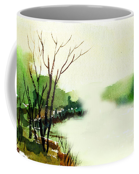 Water Color Coffee Mug featuring the painting Fog1 by Anil Nene