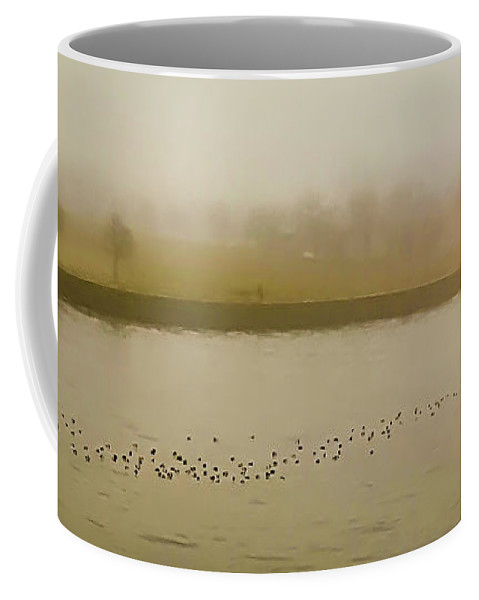 Water Coffee Mug featuring the photograph Foggy Afternoon by Deb Barchus