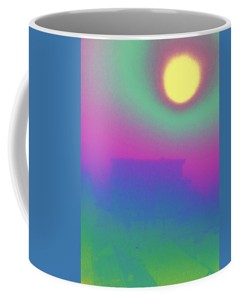 Abstract Coffee Mug featuring the digital art Foggy Day by Tim Allen