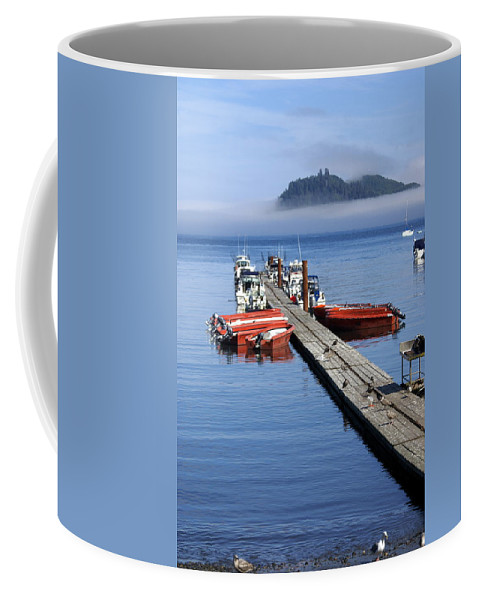 Olympic Coffee Mug featuring the photograph Foggy Dock by Marty Koch