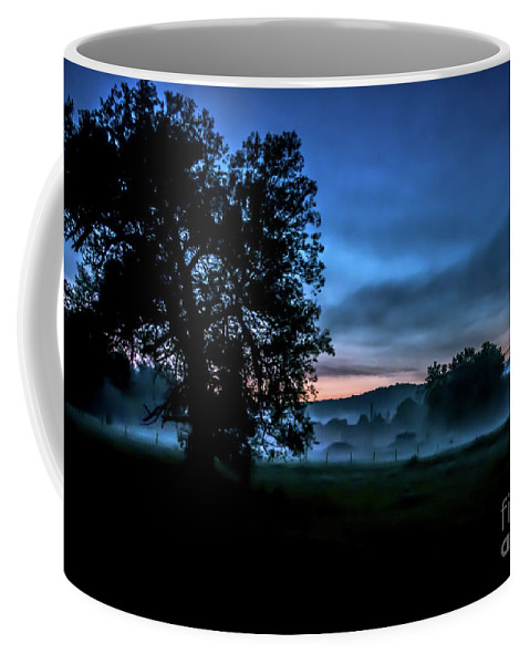 Vermont Coffee Mug featuring the photograph Foggy Evening In Vermont - Landscape by James Aiken