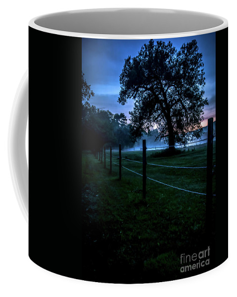Vermont Coffee Mug featuring the photograph Foggy Evening In Vermont - Portrait by James Aiken