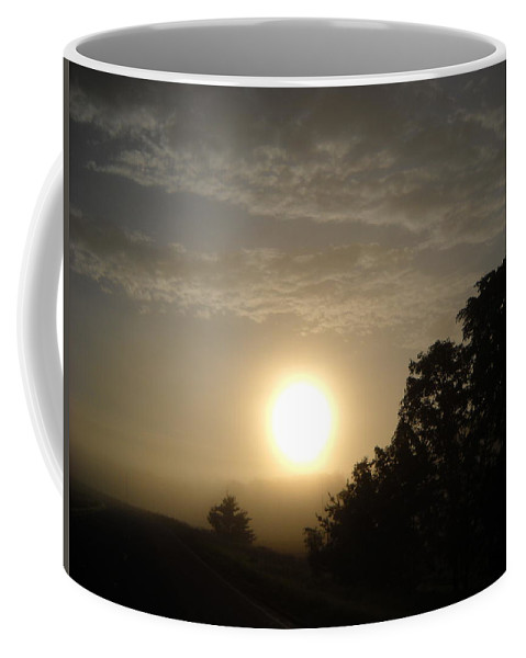 Sunrise Coffee Mug featuring the photograph Foggy June Sunrise by Kent Lorentzen
