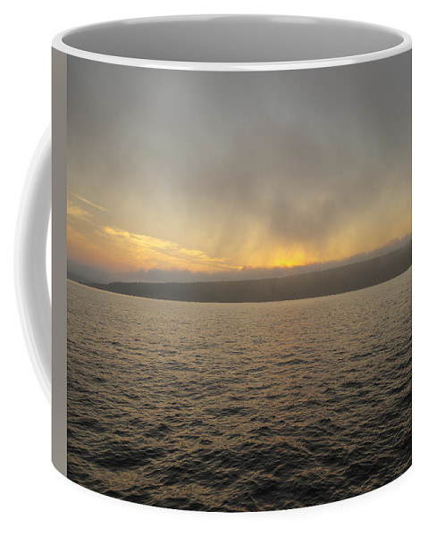 Evening Coffee Mug featuring the photograph Foggy Sunset by Jack R Perry