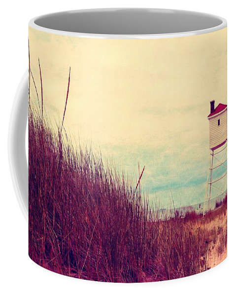 Lighthouse Coffee Mug featuring the photograph Foghorn At Big Sable Point by Michelle Calkins