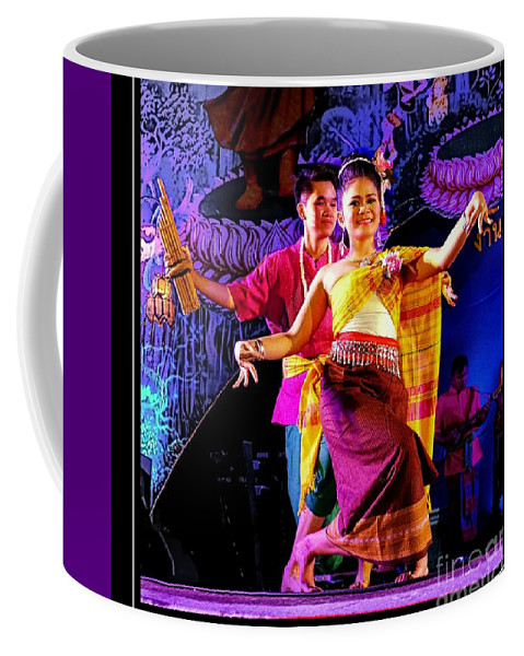 Festival Coffee Mug featuring the photograph Folk Dancing Of Isaan by Ian Gledhill