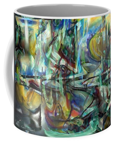 Digital Art Coffee Mug featuring the digital art Follow Me Down To The Valley Below by Linda Sannuti