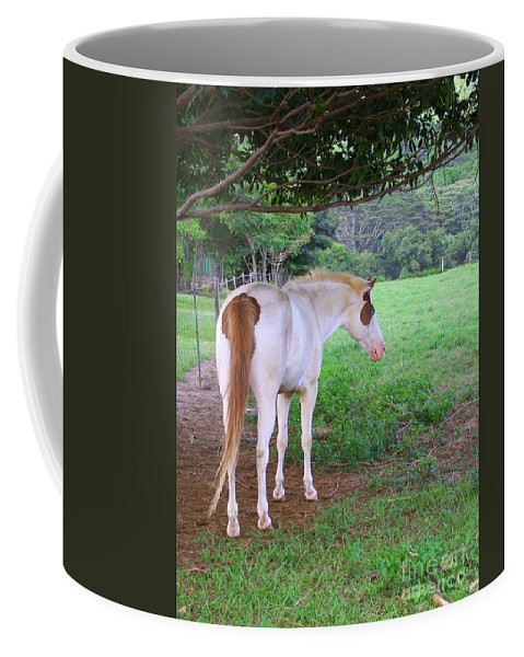 White Horse Coffee Mug featuring the photograph Follow Me by Mary Deal