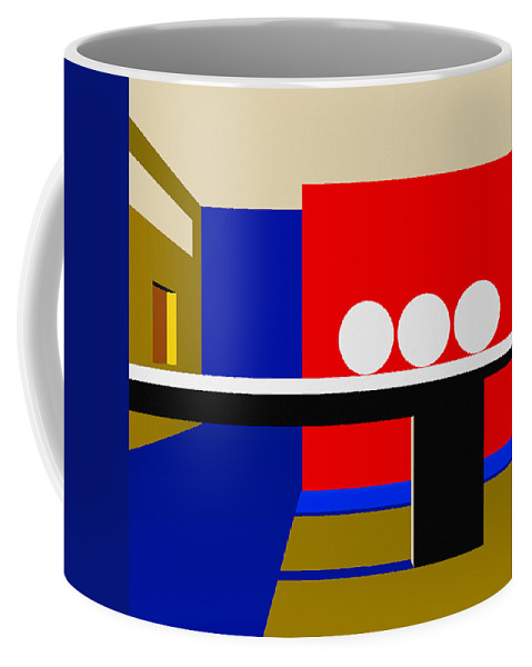 Abstract Coffee Mug featuring the digital art Following Through by Richard Rizzo