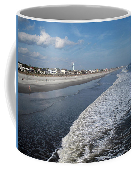 Photography Coffee Mug featuring the photograph Folly Beach Charleston Sc by Susanne Van Hulst