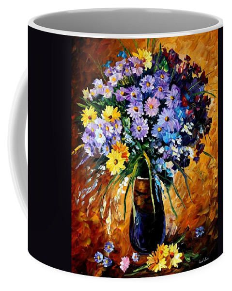 Afremov Coffee Mug featuring the painting Fondness by Leonid Afremov