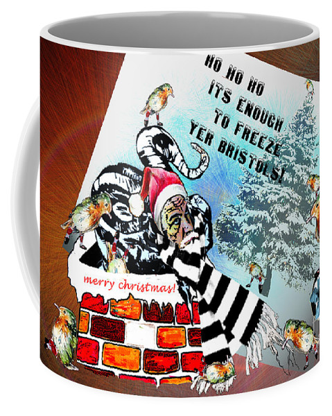 Football Calendar 2009 Derby County Football Club Bristol Artwork Miki Coffee Mug featuring the painting Football Derby Rams Against Bristol Robins by Miki De Goodaboom