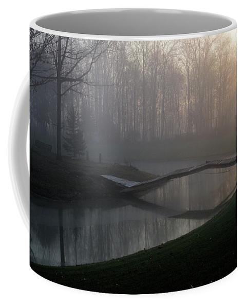 Bridge Coffee Mug featuring the photograph Footbridge by David Arment