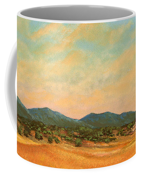 Landscape Coffee Mug featuring the painting Foothills by Frank Wilson