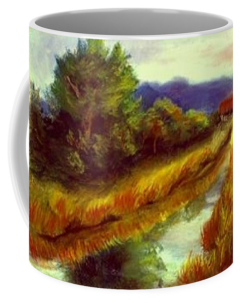 Landscape Coffee Mug featuring the painting For A Thirsty Land by Gail Kirtz