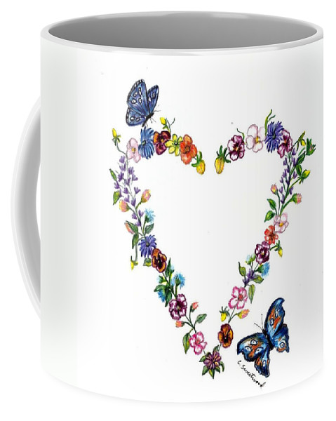 Heart Coffee Mug featuring the drawing For Danielle by Carol Sweetwood