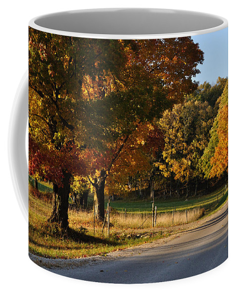 Fall Coffee Mug featuring the photograph For Grazing by Tim Nyberg