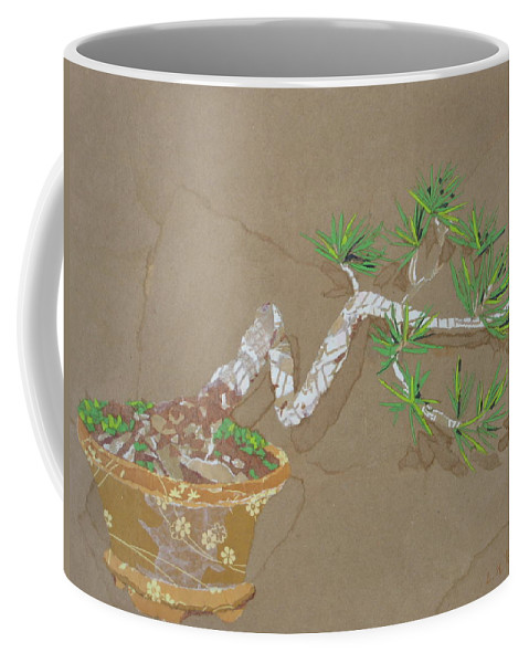 Banzai Tree Coffee Mug featuring the painting For Inge by Leah Tomaino