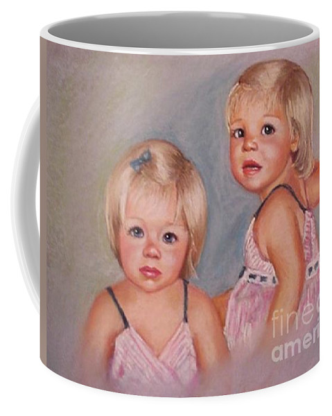 Pastel Portrait Coffee Mug featuring the pastel for Lisa by Beverly Boulet