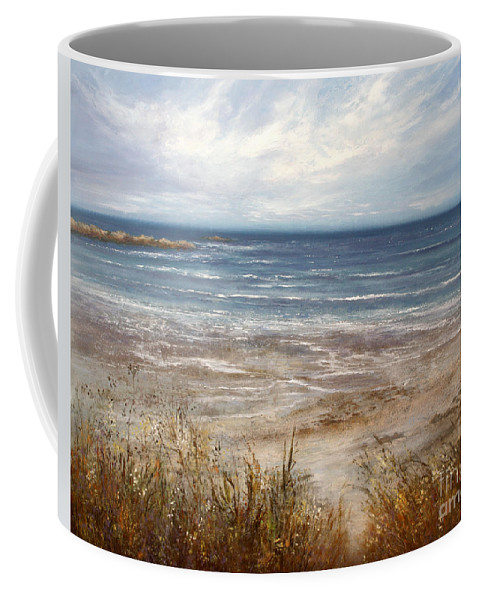 Seascape Coffee Mug featuring the painting For Love Of The Sea by Valerie Travers