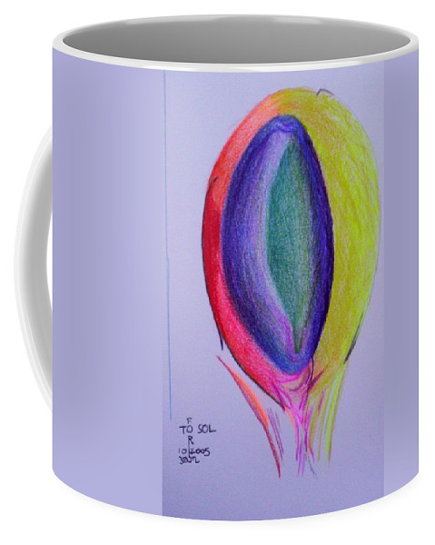 Abstract Coffee Mug featuring the painting For Sol by Suzanne Udell Levinger