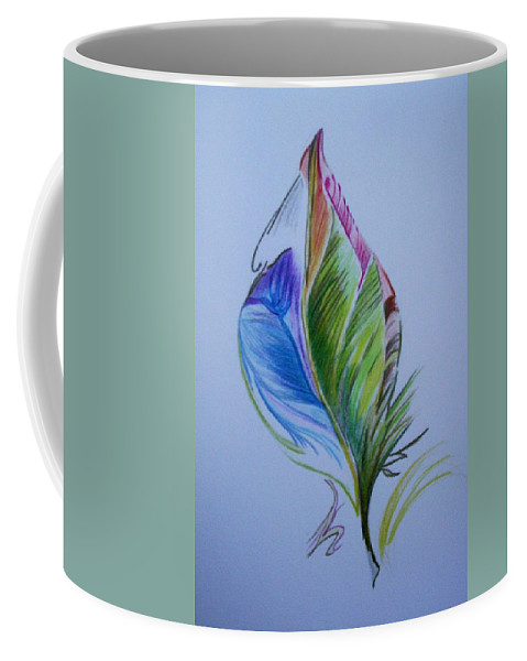 Abstract Coffee Mug featuring the drawing For Starters by Suzanne Udell Levinger