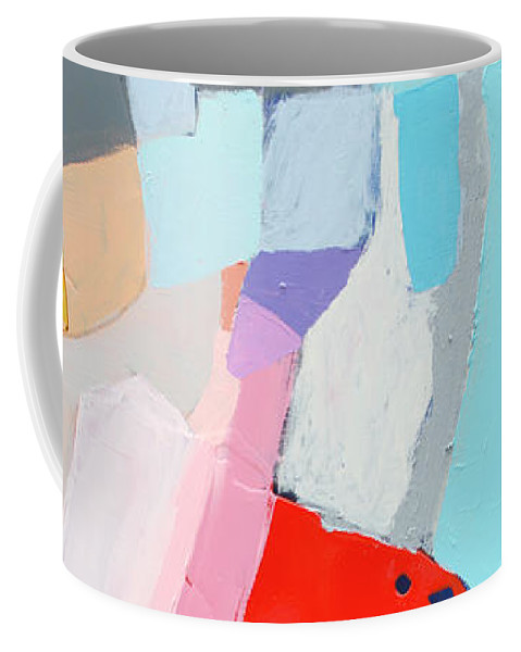 Abstract Coffee Mug featuring the painting For What You Are by Claire Desjardins