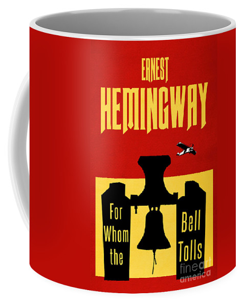 For Whom The Bell Tolls Coffee Mug featuring the digital art For Whom The Bell Tolls Book Cover Poster Art 2 by Nishanth Gopinathan