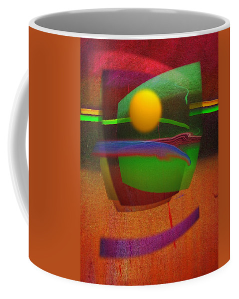 Abstract Coffee Mug featuring the painting Forbidden Planet by Charles Stuart