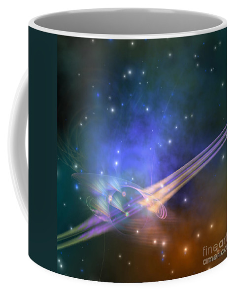 Science Fiction Coffee Mug featuring the painting Force Lines by Corey Ford
