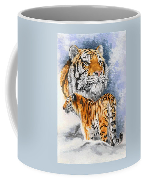Big Cats Coffee Mug featuring the mixed media Forceful by Barbara Keith