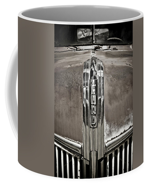 Americana Coffee Mug featuring the photograph Ford Chrome Grille by Marilyn Hunt