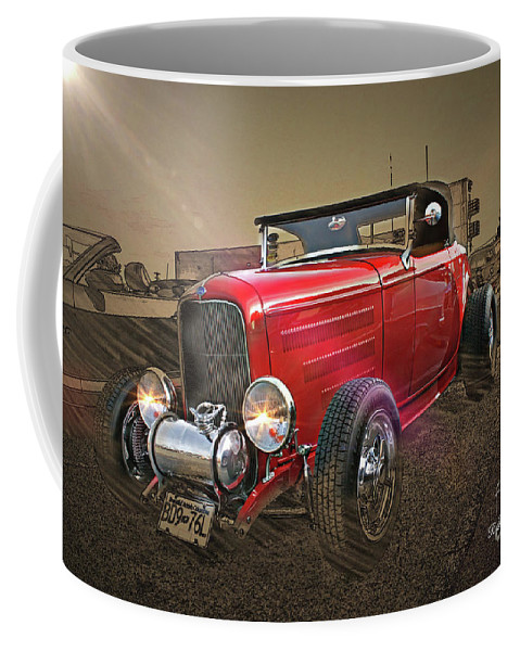 Cars Coffee Mug featuring the photograph Ford Coupe Cartoon Photo Abstract by Randy Harris