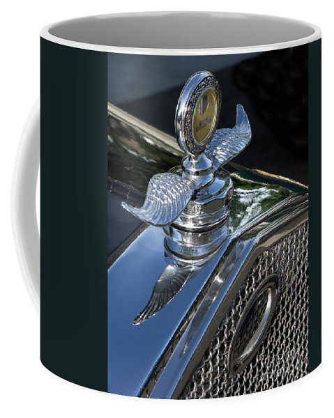 Ford Hood Emblem Coffee Mug featuring the photograph Ford Hood Emblem by Peter Piatt