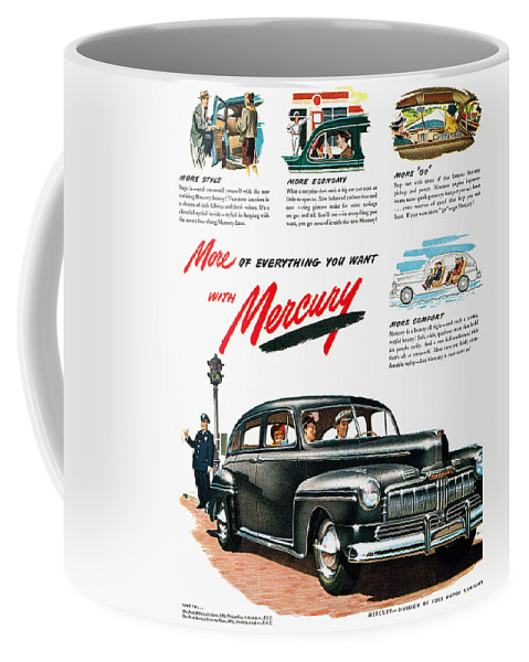 1946 Coffee Mug featuring the photograph Ford Mercury Ad, 1946 by Granger