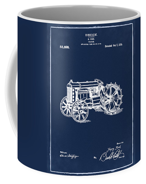 Ford Coffee Mug featuring the photograph Ford Tractor Patent 1919 by Bill Cannon