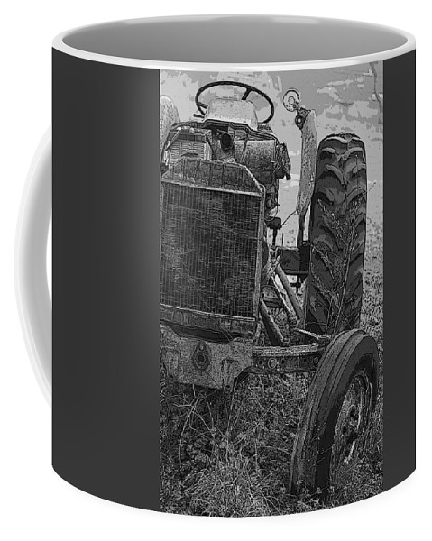 Tractor Coffee Mug featuring the photograph Ford Tractor by Shirley Sykes Bracken