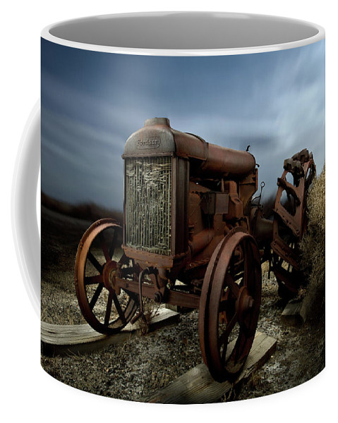 Antique Coffee Mug featuring the photograph Fordson Tractor by Yo Pedro