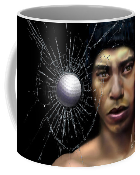 Tiger Coffee Mug featuring the painting Fore-wood by Reggie Duffie