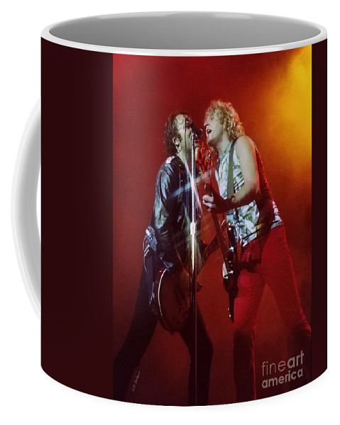 Mick Jones Coffee Mug featuring the photograph Foreigner 12 by Kevin B Bohner