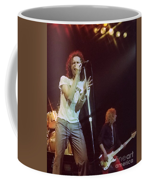 Lou Gramm Coffee Mug featuring the photograph Foreigner 13 by Kevin B Bohner