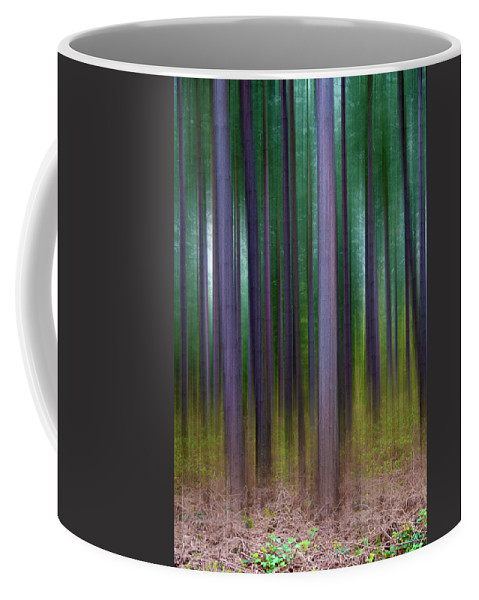 Forest Coffee Mug featuring the photograph Forest Abstract02 by Svetlana Sewell