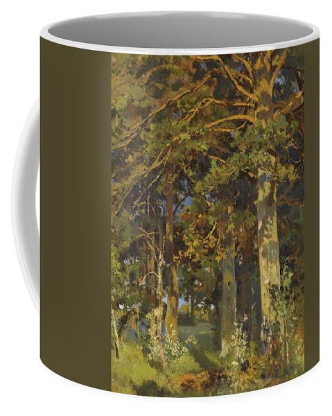 Ivan Shishkin Coffee Mug featuring the painting Forest Clearing by Ivan Shishkin