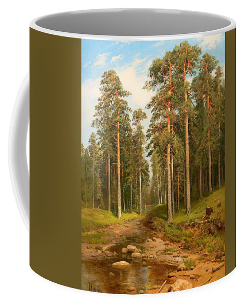 Painting Coffee Mug featuring the painting Forest Creek by Mountain Dreams