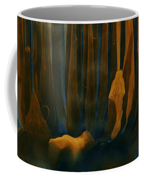 Forest Dreams Coffee Mug featuring the digital art Forest Dreams by Linda Sannuti