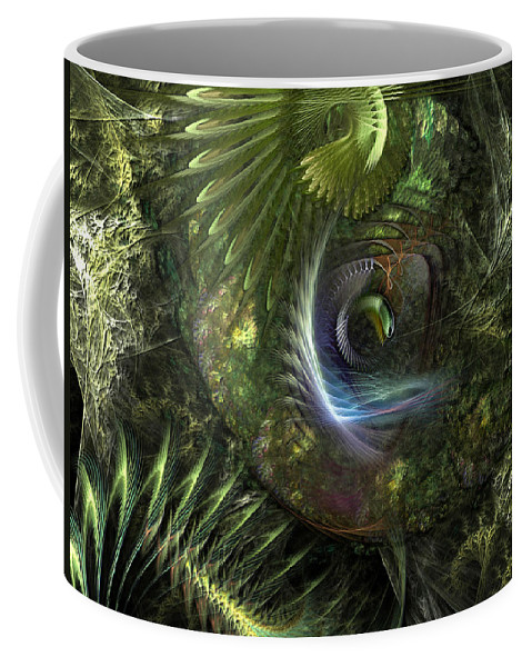 Abstract Coffee Mug featuring the digital art Forest Floor Fantasy by Casey Kotas