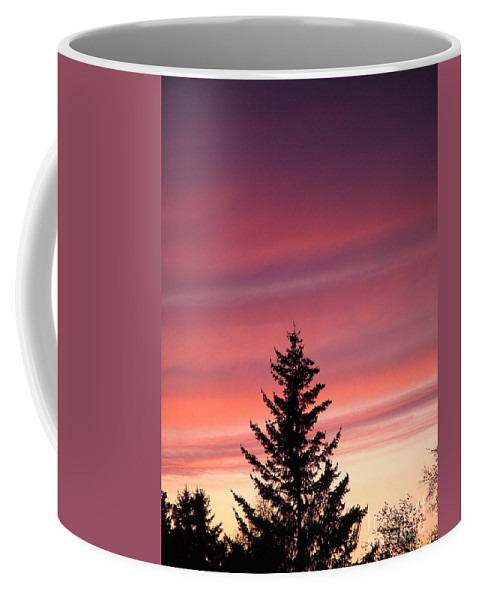 Sunset Photo Coffee Mug featuring the photograph Forest Grove Sunset by Nick Gustafson
