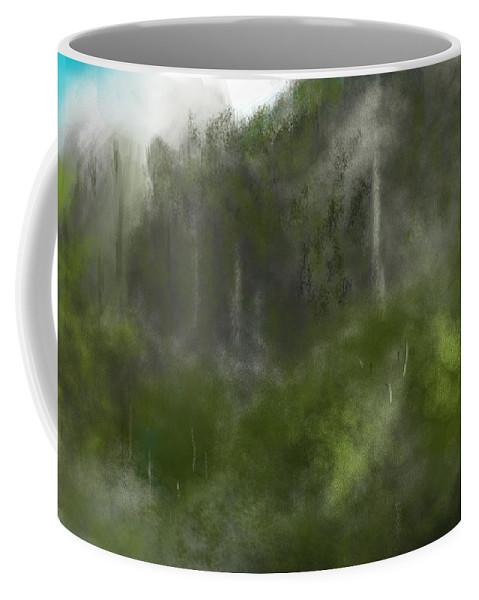 Digital Art Coffee Mug featuring the digital art Forest Landscape 10-31-09 by David Lane