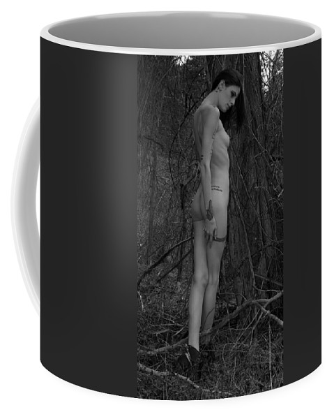 Black And White Photography Coffee Mug featuring the photograph Forest Nude by Kirk Griffith